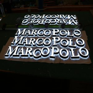 Frontlit with Backlit Mini Acrylic Letters