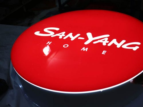 Customize your logo with a custom lightbox sign